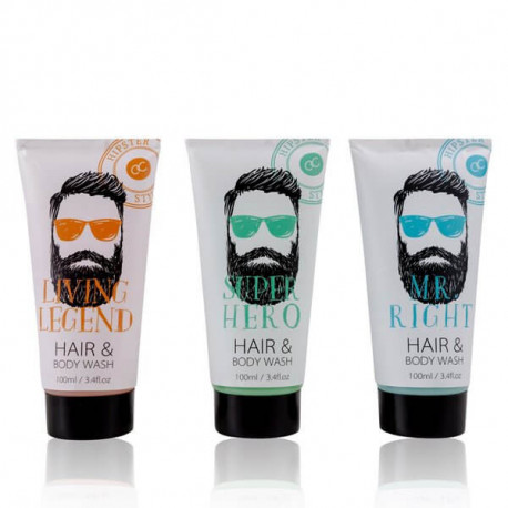Gel douche & cheveux HIPSTER STYLE Bullechic