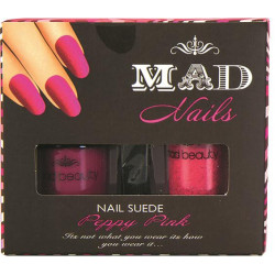 Kit vernis à ongles Effet Velours PEPPY PINK, couleur Fuchsia