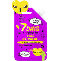 7 DAYS YOUR EMOTIONS TODAY Gel gommage visage pour vilaines et espiègles